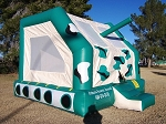 Used 15 x 15 Army Tank Bounce House