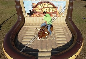 Mechanical Bull with Western Themed Inflatable